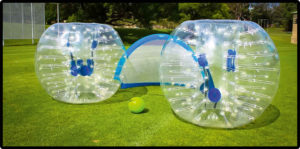Bubble Soccer - Gummi-Bubbles und Tor