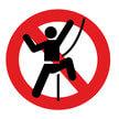 Kein Klettern!