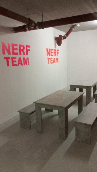 Pausenbereich für unsere erschöpften Nerf Team Spieler in der Future Games World