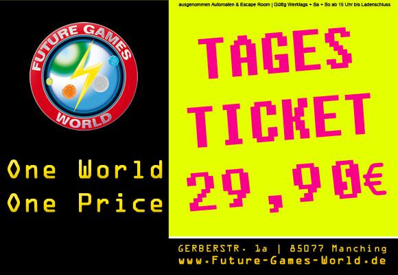 Einmalig im Ballungsgebiet um Ingolstadt! 1 Ticket und MEGA SPAß für den ganzen Tag! Mit unserem Tagesticket könnt Ihr unbegrenzt (nach Verfügbarkeit) Lasertag, VR, schwarzlicht Fußball Minigolf, Fußball Billard, XXL Spiele oder Lasersniper spielen.